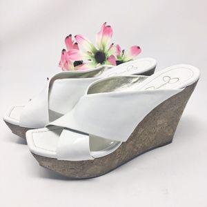 Jessica Simpson VFumm2 Wedge Sandal  Sz 7.5